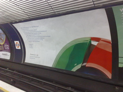 google chrome poster at old street underground station