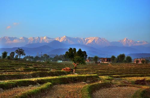 Dhauladhar Range from Kangra Valley, Himachal Pradesh, India