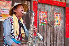1_MG_3056-街頭藝人-藝師-街頭表演-房屋-大門-鹽水老街-台南縣-鹽水鎮-台南市-鹽水區-台南-鹽水 Street Performance, Tainan City, Taiwan