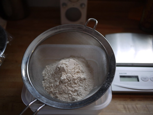 Pain au Levain - Sifting whole wheat flour