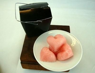 lolita solid sugar scrubs - heart-shaped - japanese sakura - set of 5