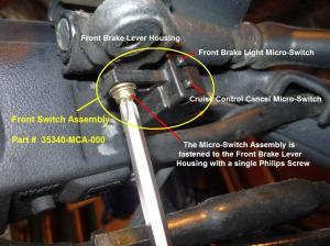 Front Brake Cruise Control cancel micro switch failed?  Steve Saunders Goldwing Forums