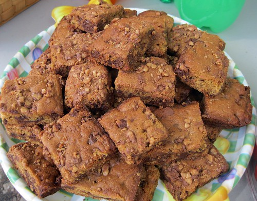 Toffee Crunch Blondies