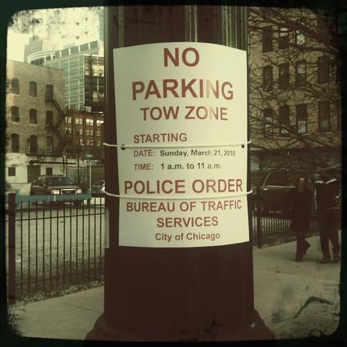 Shamrock Shuffle No Parking Zone