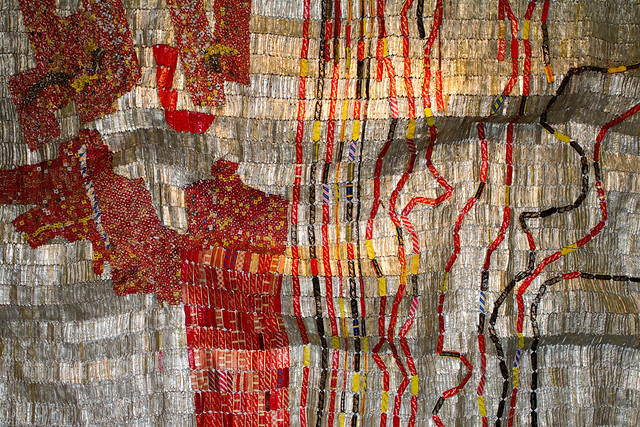 Sculpture (Detail) by El Anatsui / Jack Shainman Gallery / The Armory Show 2010 / 20100305.7D.03932 / SML