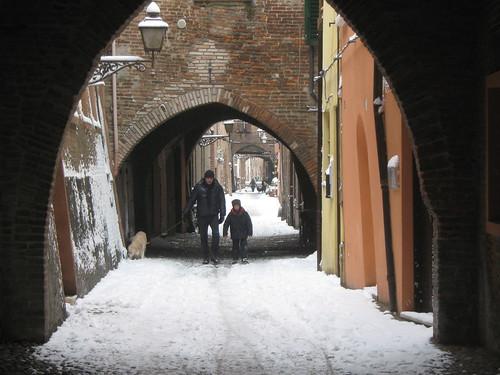 """Foto """"Ferrara dopo la Memorabile Nevicata [19.12.09]"""" by Sim Dawdler - flickr"""
