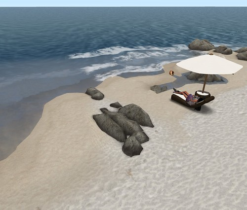Two sand terrain textures by Second Life Beach