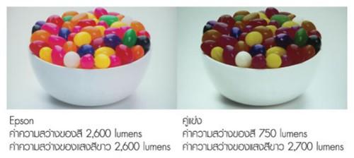 Epson EH-TW5200 สามารถแสดงสีสันต่างๆ ได้ที่ความสว่างเท่าๆ กัน