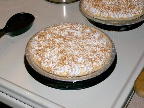 Coconut Cream Pies!