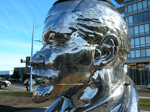 Lenin's head is all over the place