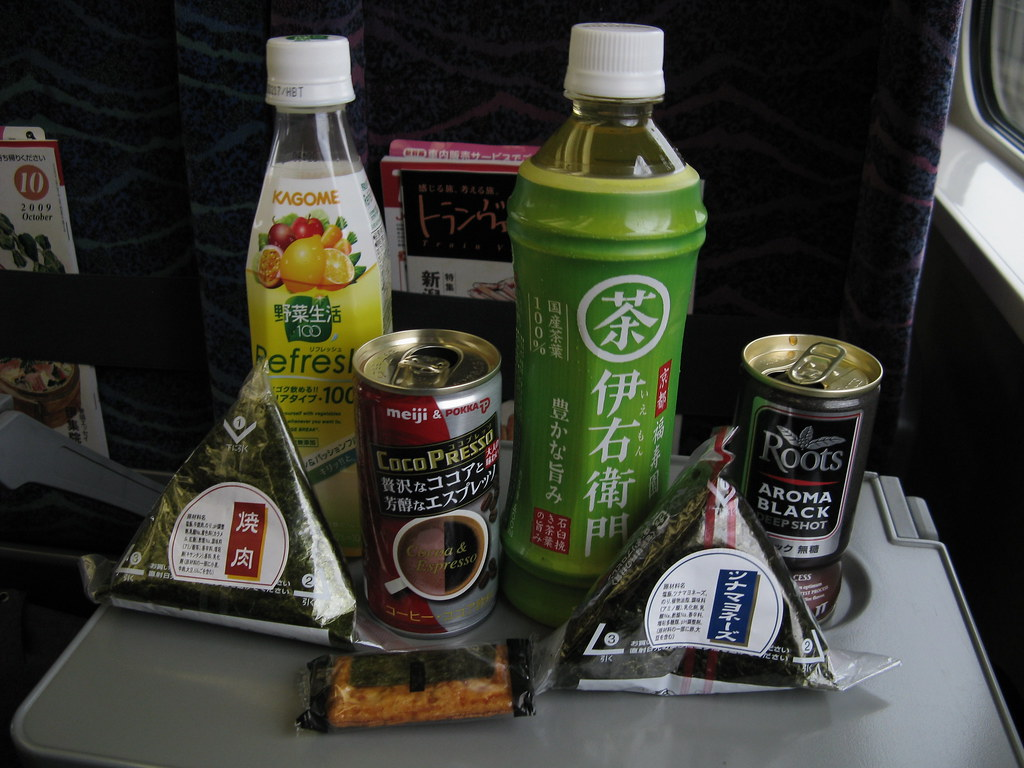 Breakfast on the bullet train