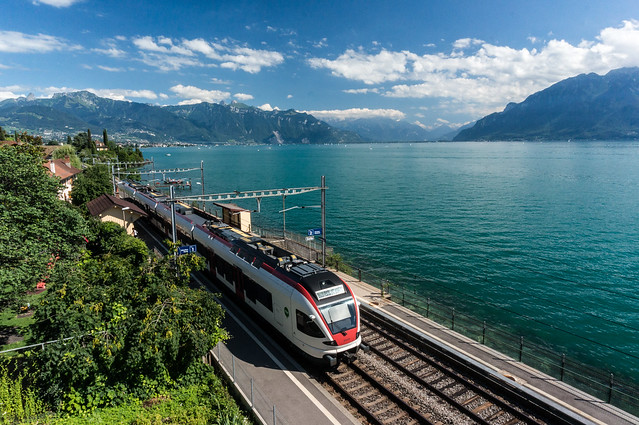 Train, Lavaux, Switzerland