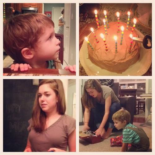 """Happy birthday Mo!  Charlie is in his crib singing """"Happy birthday"""" at 9:30 pm- too much cake perhaps?  @kamccart0927 @jennifermccarthy0830"""