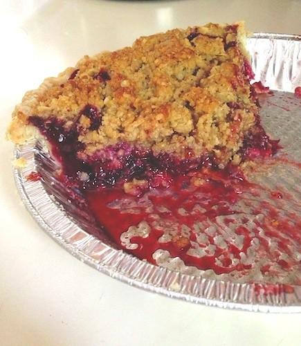 Blackberry Balsamic Pie with Sea Salt Walnut Crumble
