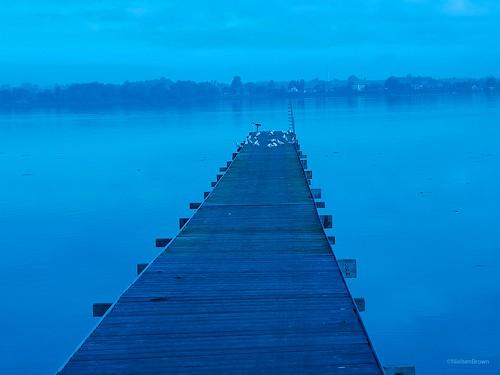 Blue rowing club jetty