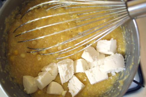 Polenta, goat-cheesed