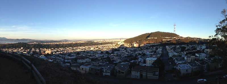 view of san francsico from twin peaks