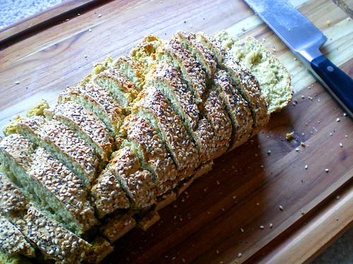 oat soda bread sliced