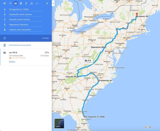 Road Trip 2017 Route
