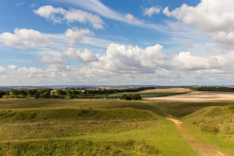 View from Badbury Rings looking west