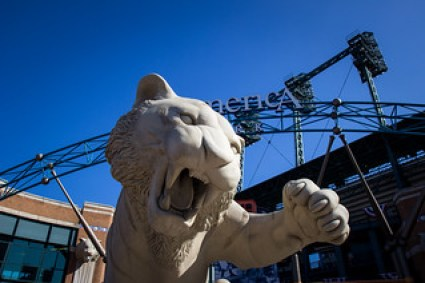 Paws the Tiger: Face of the Detroit Tigers - Comerica Park