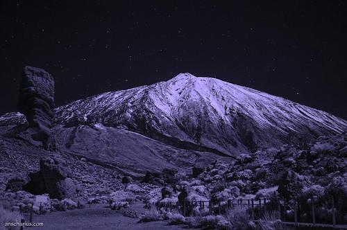 Roque Chinchado & El Teide - Nikon D300 - Infrared 830nm