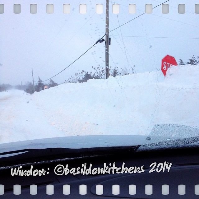 29/1/2014 - window {view out the trick window as I attempted to get to work}  I turned around here and went back home as roads were being closed all around me. #fmsphotoaday #window #winter #weather #driving #princeedwardcounty