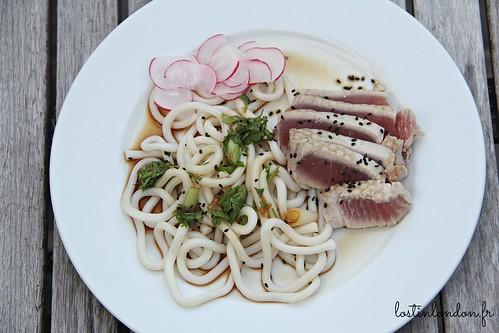 thon et udon noodles au gingembre