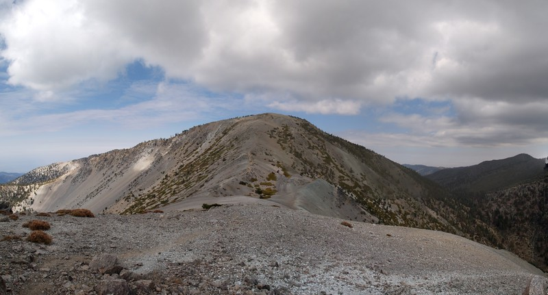 Mount Baldy (Mount San Antonio) from the west ridge of Harwood