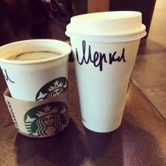 Wie man doch so alles bei Starbucks genannt wird - Меркел - Merkel