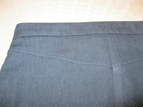 Grainline Moss Mini - back yoke detail
