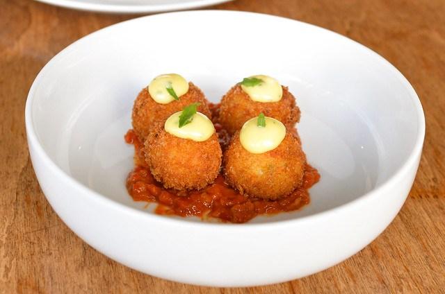 potato croquettes romesco & aioli