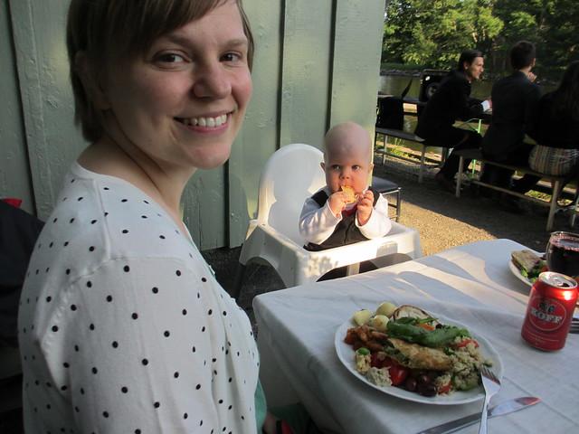 Jag och Sander på bröllopsmiddag
