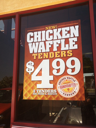 Chicken Waffle Tenders sign