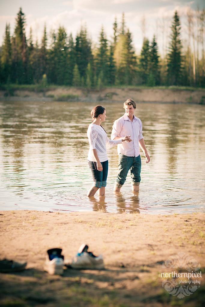 Nechako River Engagement Session - Prince George BC