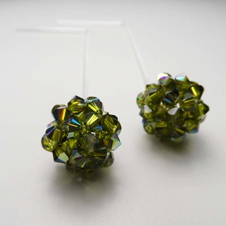 bead ball earrings