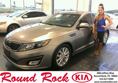 Thank you to Ashley Small on your new 2014 #Kia #Optima from Ruth Largaespada and everyone at Round Rock Kia! #LoveMyNewCar by RoundRockKia