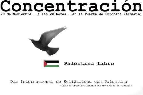 Cartel Dia Internacional de Solidaridad con Palestina