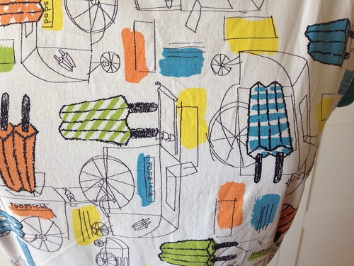 popsicle dress print closeup