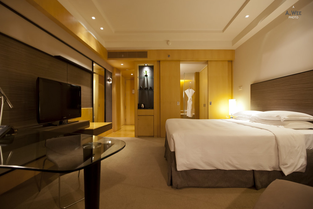 Bedroom at the Grand Hyatt
