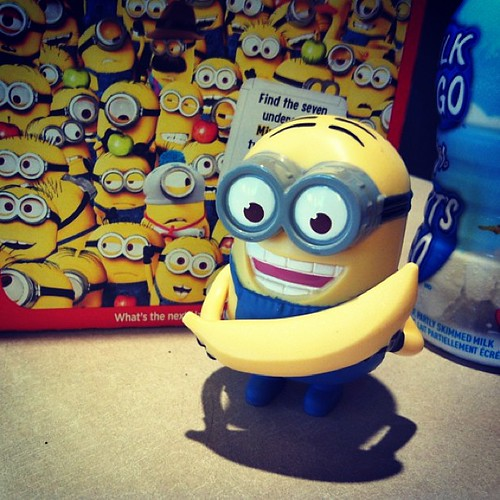 #banana!!! #despicableme2 #dave my week is now complete and I can stop stacking #mcdonalds lol #happymeal