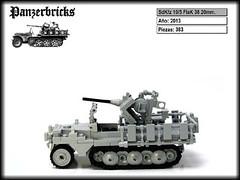 SdKfz 10/5 FlaK 38 20mm. de Panzerbricks