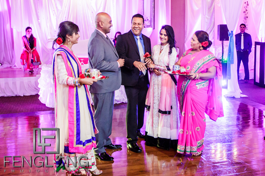 Muslim ring ceremony at Bangladeshi engagement in Atlanta