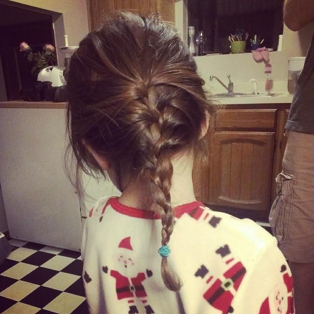 First French braid...