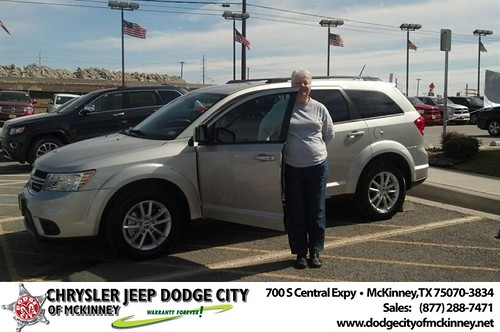 Thank you to Sara James on your new 2013 #Dodge #Journey from Bobby Crosby and everyone at Dodge City of McKinney! #NewCarSmell by Dodge City McKinney Texas