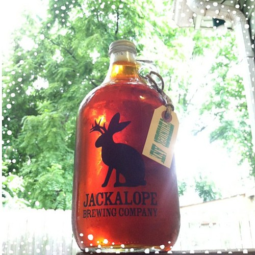 #Nashville brewery, female owned and run. #Jackalope #growler of Thunder Ann APA.