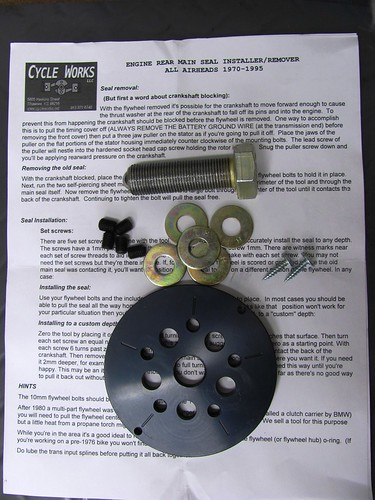 Cycle Works Rear Main Seal Puller Kit