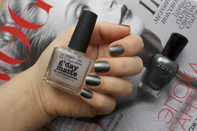12 Zoya Cassedy + Picture Polish G'day Matte Topcoat