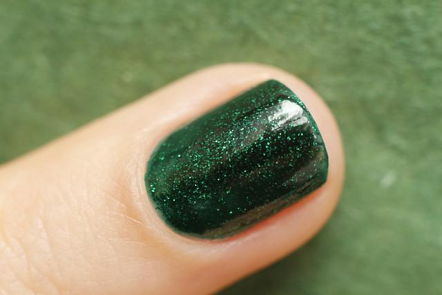 03 China Glaze Emerald Sparkle swatches