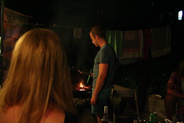 Eli grilling